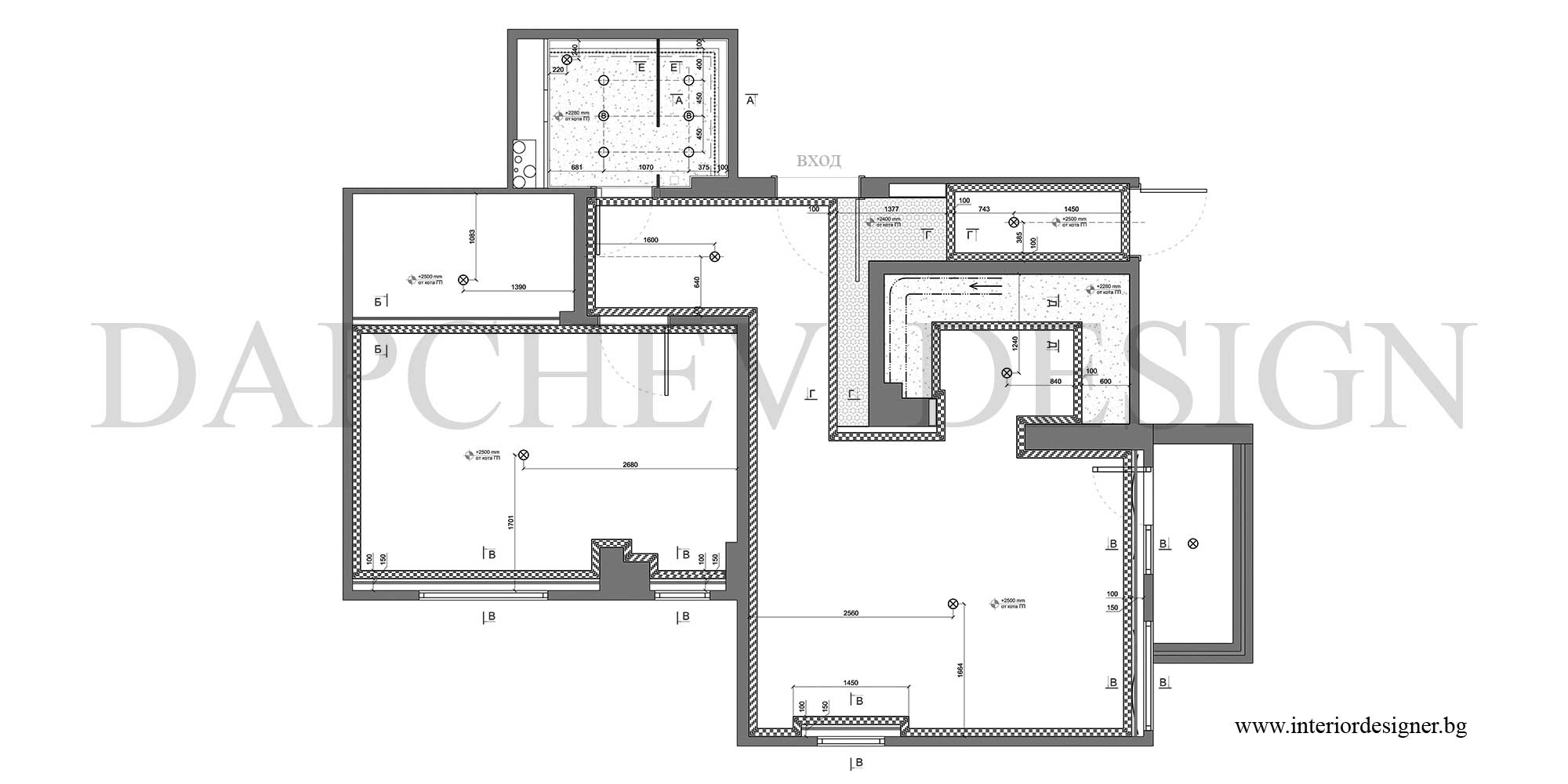 интериорни дизайнери - план софит
